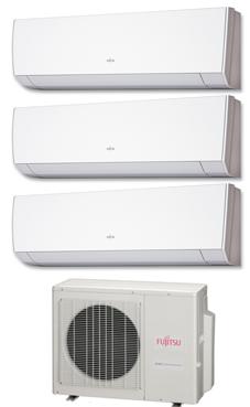 FUJITSU Multi-split 2x1 unidad exterior: AOY71UI-MI3 unidades interiores: ASY20MI-LM ASY25MI-LM ASY35MI-LM