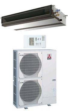 MITSUBISHI-ELECTRIC Split conductos Mr.Slim serie ZUBADAN HPEZS-125 YJA con mando simplificado PAC-YT52CRA