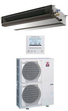 MITSUBISHI-ELECTRIC Split conductos Mr.Slim serie STANDARD INVERTER SPEZS-125VJA con mando programador PAR-31MAA